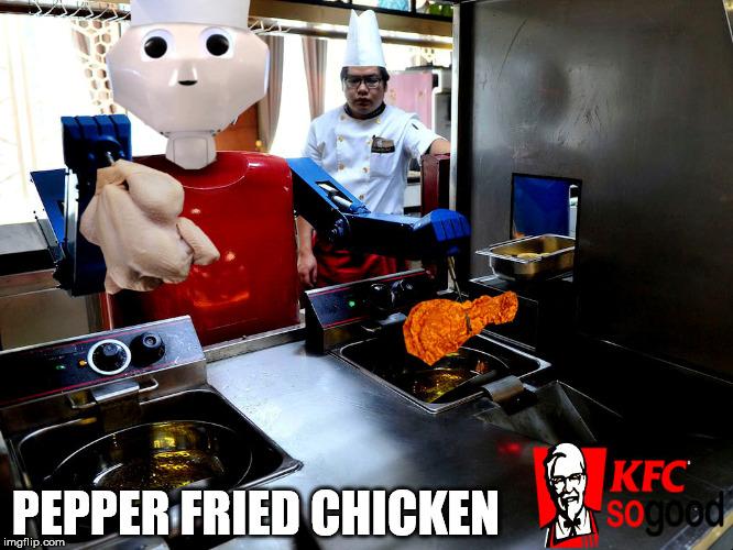 Demotivational Fried Chicken: Robotic Fry Cook