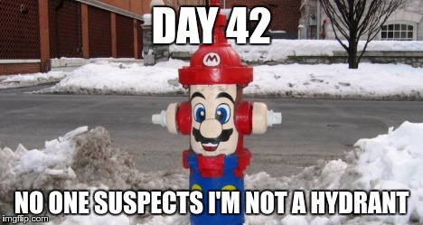 DAY 42 NO ONE SUSPECTS I'M NOT A HYDRANT | made w/ Imgflip meme maker
