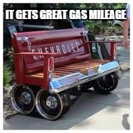 IT GETS GREAT GAS MILEAGE | image tagged in chevy sucks,chevy,memes | made w/ Imgflip meme maker
