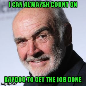 I CAN ALWAYSH COUNT ON RAYDOG TO GET THE JOB DONE | made w/ Imgflip meme maker