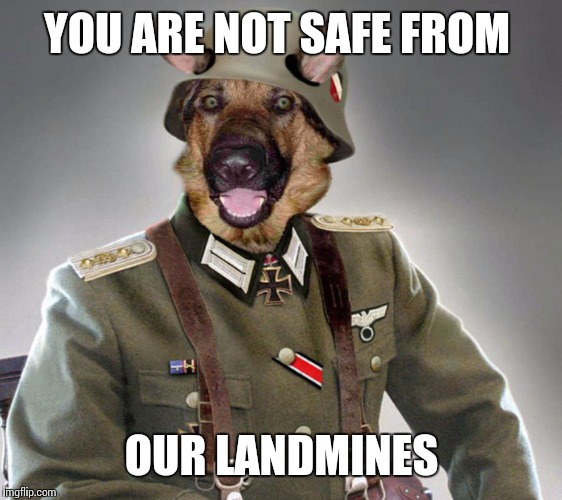 YOU ARE NOT SAFE FROM OUR LANDMINES | made w/ Imgflip meme maker