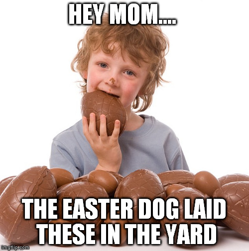 HEY MOM.... THE EASTER DOG LAID THESE IN THE YARD | made w/ Imgflip meme maker