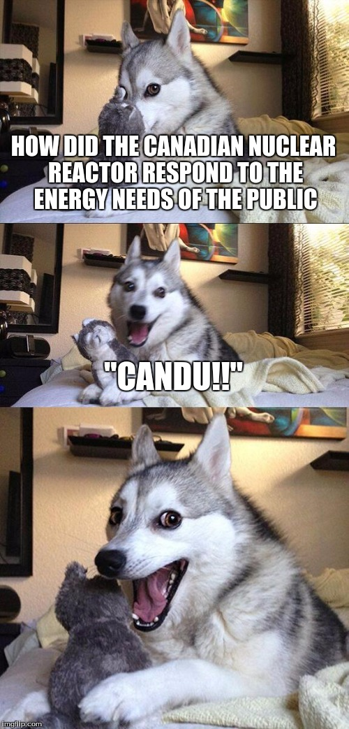 "For Canadians Who Get Nuclear Reactor Jokes | HOW DID THE CANADIAN NUCLEAR REACTOR RESPOND TO THE ENERGY NEEDS OF THE PUBLIC ""CANDU!!"" 