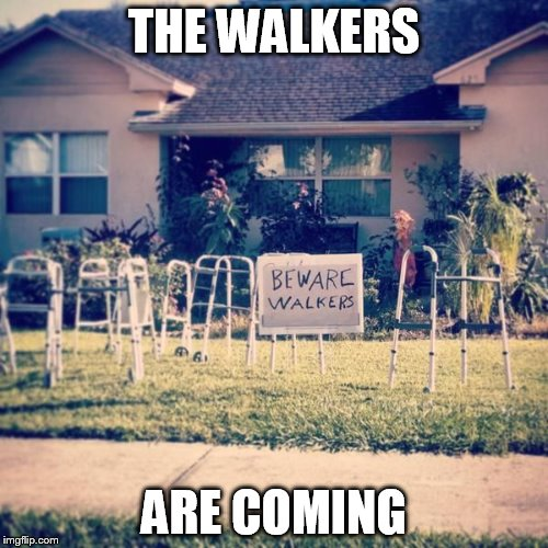 They are coming | THE WALKERS ARE COMING | image tagged in zombies,walkers,coming | made w/ Imgflip meme maker