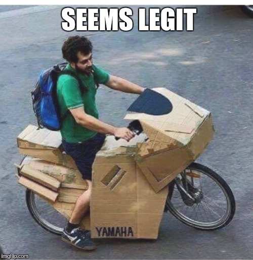 Yamaha's new model is a bit ... box-y |  SEEMS LEGIT | image tagged in funny,motorcycle,motorbike,too funny,seems legit,legit | made w/ Imgflip meme maker