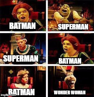 BATMAN SUPERMAN SUPERMAN BATMAN BATMAN WONDER WOMAN | image tagged in batman vs superman | made w/ Imgflip meme maker