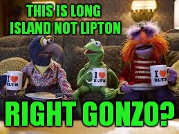 THIS IS LONG ISLAND NOT LIPTON RIGHT GONZO? | made w/ Imgflip meme maker