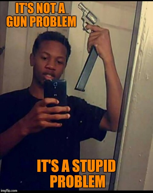 You don't look cool, you look like a fool. | IT'S NOT A GUN PROBLEM IT'S A STUPID PROBLEM | image tagged in funny memes,guns,stupid people,fail,selfie | made w/ Imgflip meme maker
