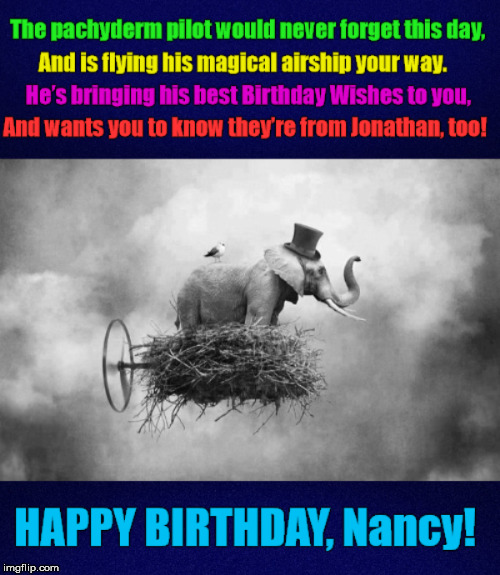 Birthday Wishes From A Flying Elephant Little Poem