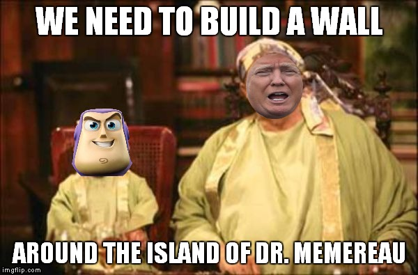 It's for the best really... | WE NEED TO BUILD A WALL AROUND THE ISLAND OF DR. MEMEREAU | image tagged in meme,island,doctor | made w/ Imgflip meme maker