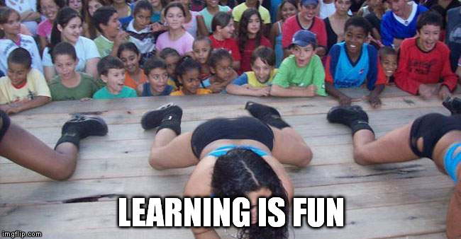 Field trip | LEARNING IS FUN | image tagged in hungry kids | made w/ Imgflip meme maker