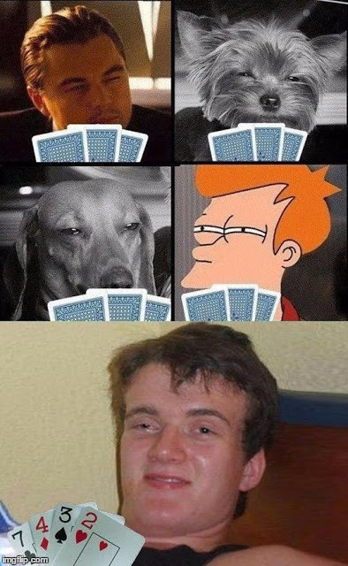 He definitely doesn't have ten.. | image tagged in funny,futurama fry,dogs | made w/ Imgflip meme maker