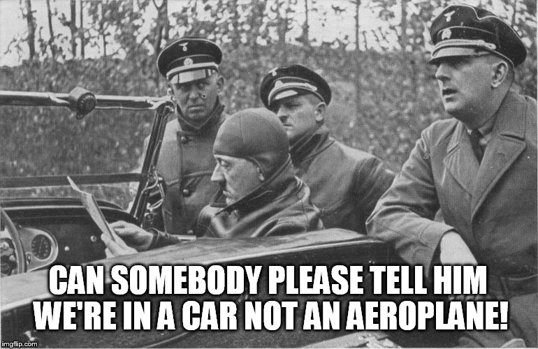 Funny Ww2 Memes: Hitler Confused