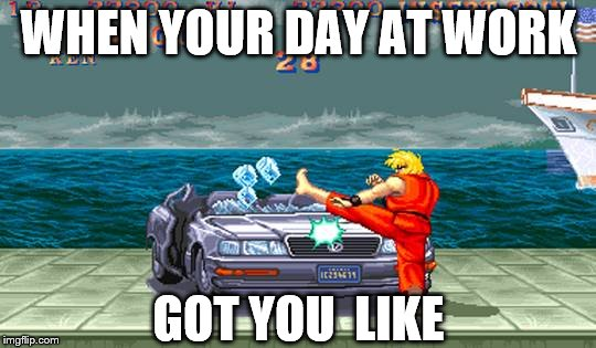 Street Fighter Car Smash Imgflip