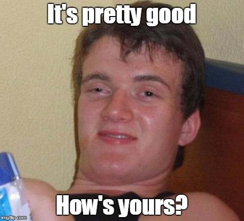 10 Guy Meme | It's pretty good How's yours? | image tagged in memes,10 guy | made w/ Imgflip meme maker