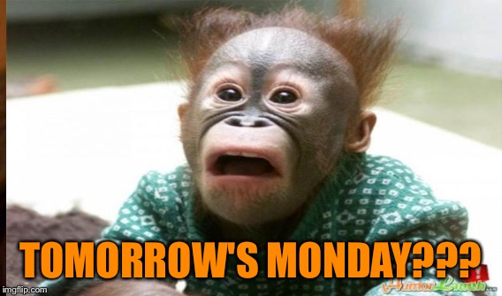TOMORROW'S MONDAY??? | made w/ Imgflip meme maker