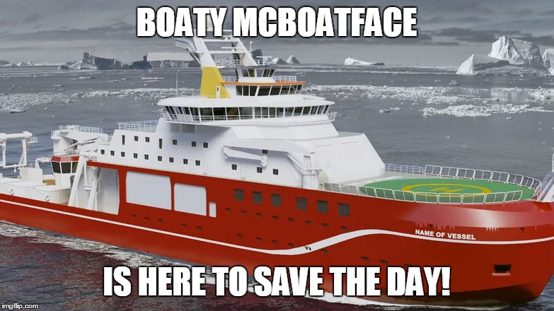 BOATY MCBOATFACE IS HERE TO SAVE THE DAY! | made w/ Imgflip meme maker