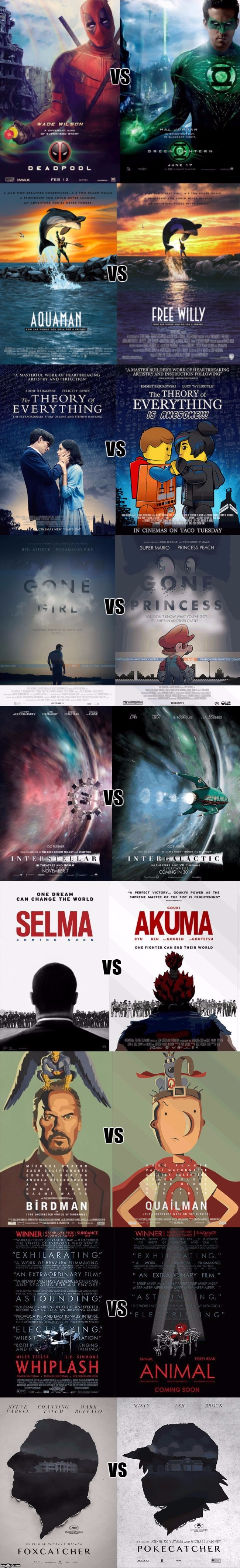 I Can't Decide Which Movie I'd Like To See More! (Real Versus Parody Movie Poster) | . | image tagged in i can't decide which movie i'd like to see more,memes,movies,parody,one of these things is not like the other,funny | made w/ Imgflip meme maker