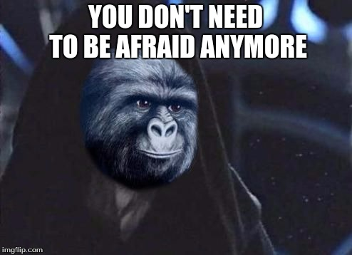 Emperor Rustling | YOU DON'T NEED TO BE AFRAID ANYMORE | image tagged in emperor rustling | made w/ Imgflip meme maker