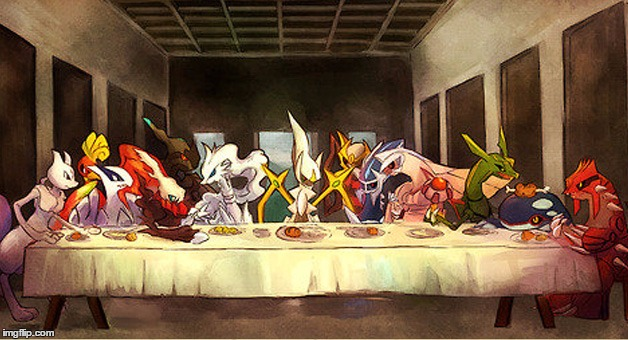 The Last Supper Pokemon Edition | . | image tagged in the last supper pokemon edition | made w/ Imgflip meme maker