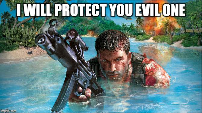 I WILL PROTECT YOU EVIL ONE | made w/ Imgflip meme maker