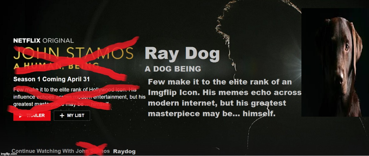Who else is excited for Raydog's Netflix Original Series? | image tagged in memes,raydog,netflix,april fools,tv show,dogs | made w/ Imgflip meme maker