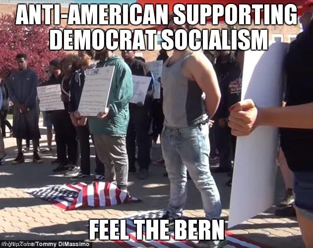 11yn55 image tagged in bernie sanders,socialism,anti american,communism