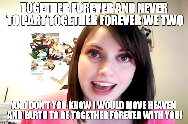 120nao overly attached girlfriend laina morris pink shirt imgflip