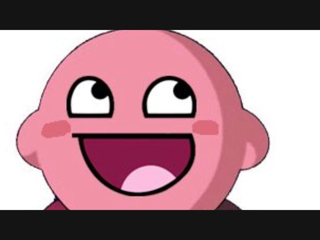 High Quality Kirby Troll Blank Meme Template