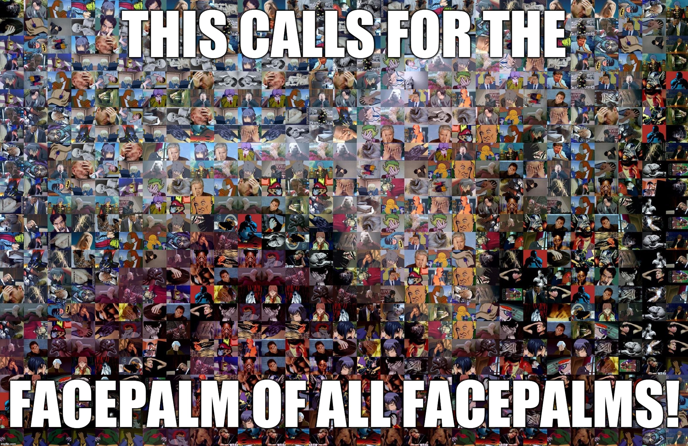 When One Facepalm Is Not Enough | THIS CALLS FOR THE FACEPALM OF ALL FACEPALMS! | image tagged in when one facepalm is not enough | made w/ Imgflip meme maker