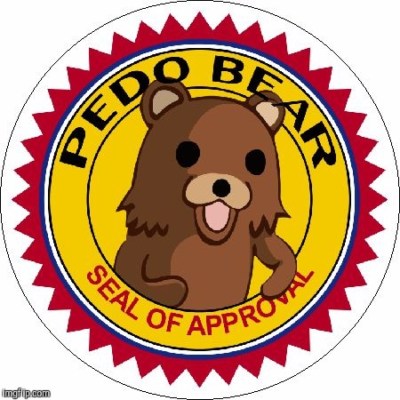 Pedo Bear Seal of Approval | CBC | image tagged in pedo bear seal of approval | made w/ Imgflip meme maker