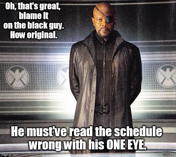 Meme su Nick Fury, diamo la colpa al nero con un occhio solo