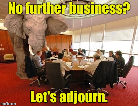 China versus Panama papers |  No further business? Let's adjourn. | image tagged in room elephant,china,panama papers | made w/ Imgflip meme maker