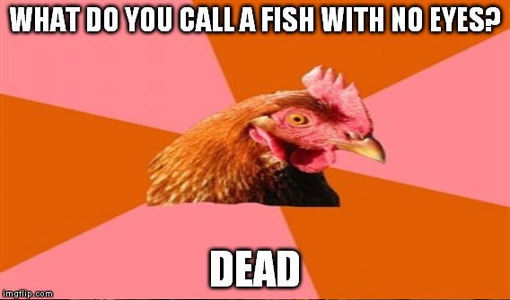 WHAT DO YOU CALL A FISH WITH NO EYES? DEAD | made w/ Imgflip meme maker