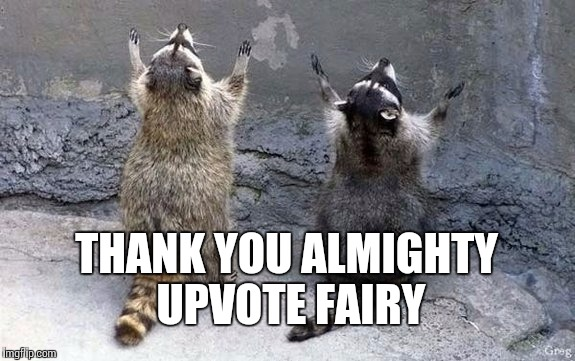THANK YOU ALMIGHTY UPVOTE FAIRY | made w/ Imgflip meme maker