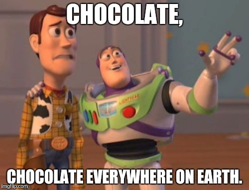 X, X Everywhere Meme | CHOCOLATE, CHOCOLATE EVERYWHERE ON EARTH. | image tagged in memes,x x everywhere | made w/ Imgflip meme maker