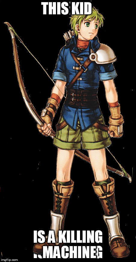 Rolf the Killer  |  THIS KID; IS A KILLING MACHINE | image tagged in warrior,fire emblem | made w/ Imgflip meme maker