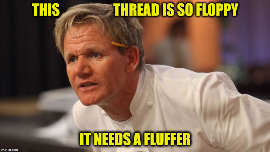 THIS                    THREAD IS SO FLOPPY IT NEEDS A FLUFFER | made w/ Imgflip meme maker