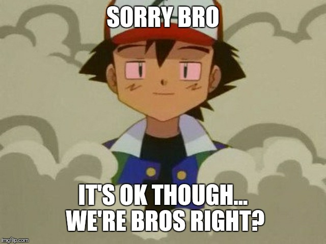 SORRY BRO IT'S OK THOUGH... WE'RE BROS RIGHT? | made w/ Imgflip meme maker