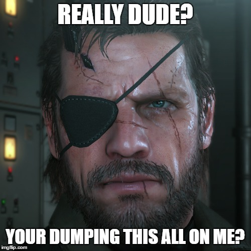 REALLY DUDE? YOUR DUMPING THIS ALL ON ME? | made w/ Imgflip meme maker