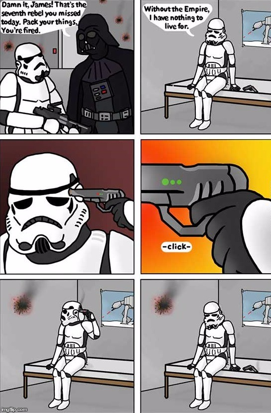 . | image tagged in stormtrooper problem | made w/ Imgflip meme maker
