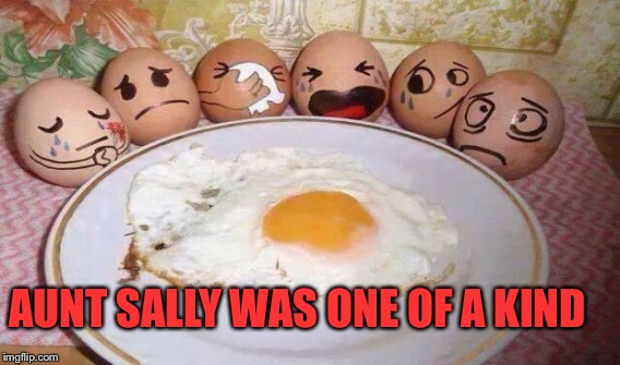 She Looks Peacful, I Was Scared The Car Wreck May Have Broken Her Yolk.  | AUNT SALLY WAS ONE OF A KIND | image tagged in eggcelent,memes,lol,funeral | made w/ Imgflip meme maker