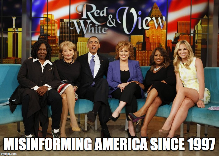 The View | MISINFORMING AMERICA SINCE 1997 | image tagged in the view | made w/ Imgflip meme maker