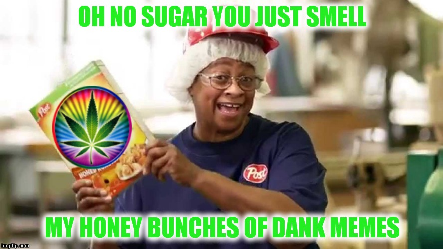 Don't eat me now... | OH NO SUGAR YOU JUST SMELL MY HONEY BUNCHES OF DANK MEMES | image tagged in honey boo boo,dank | made w/ Imgflip meme maker