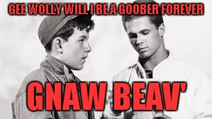 GEE WOLLY WILL I BE A GOOBER FOREVER GNAW BEAV' | made w/ Imgflip meme maker
