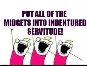 PUT ALL OF THE MIDGETS INTO INDENTURED SERVITUDE! | made w/ Imgflip meme maker