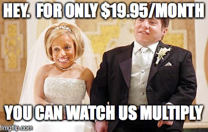 HEY.  FOR ONLY $19.95/MONTH YOU CAN WATCH US MULTIPLY | made w/ Imgflip meme maker