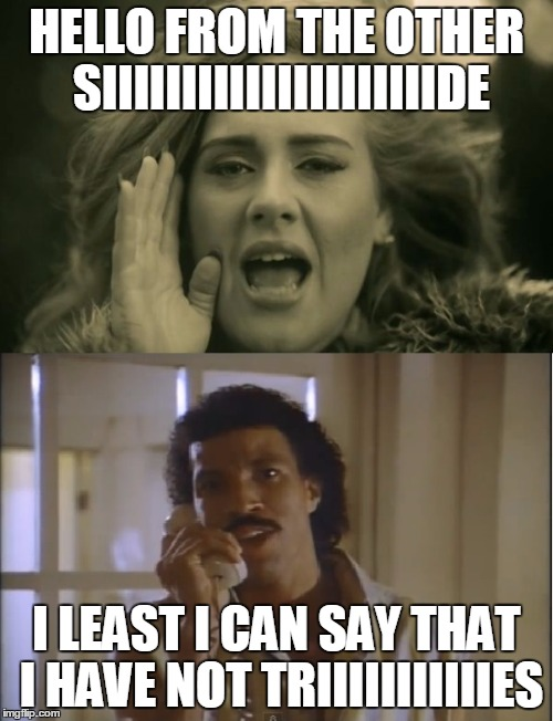 Adele And Lionel Memes Gifs Imgflip