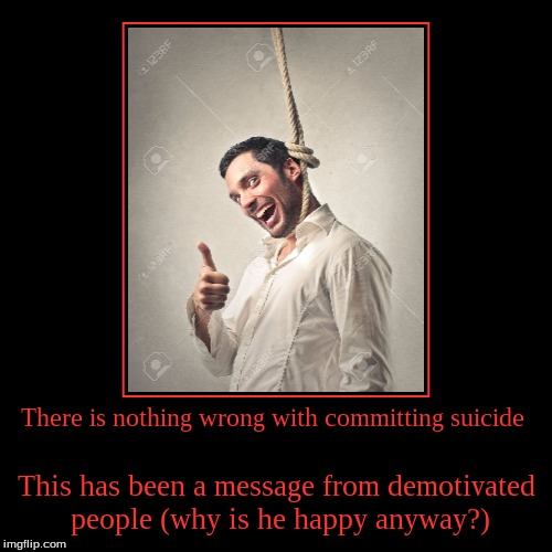 suicide is wrong A suicide survivor -- who's attempted suicide and lost family members to suicide -- explains why dying by suicide isn't selfish  please stop saying suicide is selfish  i had lost all hope i was not selfish for not understanding what was wrong with me my mother and father were not selfish for.