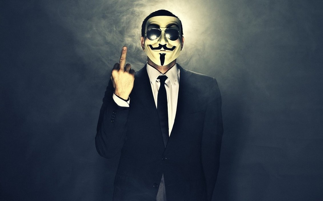 Anonymous Middle Finger Meme Template